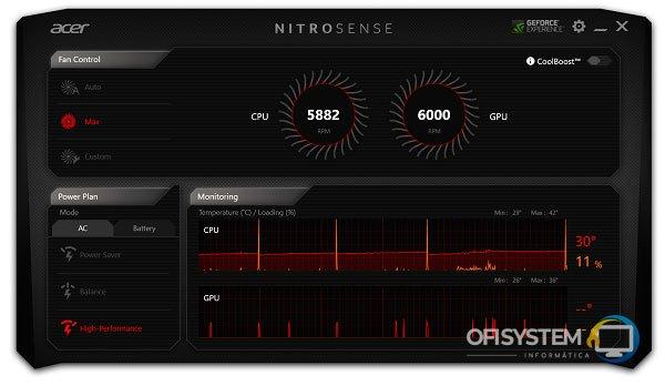 No se ejecuta NitroSense